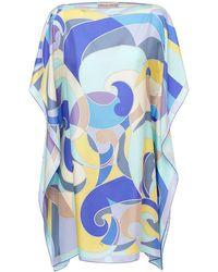 Emilio Pucci シルクツイルミニドレス - ブルー