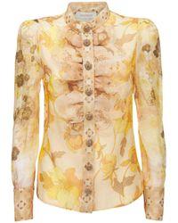 Zimmermann リネン&シルクシャツ - マルチカラー