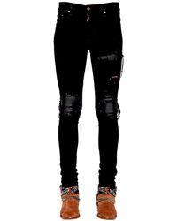 Amiri 15cm Tapered Mx1 Cotton Denim Jeans - Black
