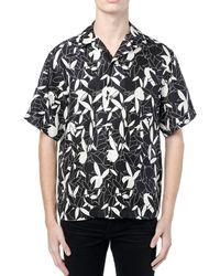 Amiri Playboy Allover Print Silk Twill Shirt - Black