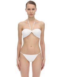 AEXAE Halter Neck Lycra Bandeau Bikini Top - Белый