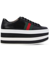 "Gucci - Trainers ""peggy"" In Pelle 55mm - Lyst"