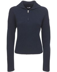 AG Jeans Suéter Deportivo De Cashmere Con Cremallera - Azul