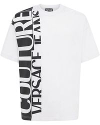Versace Jeans Couture Футболка Из Хлопкового Джерси - Белый
