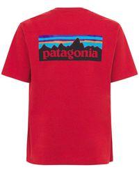 Patagonia P-6 Logo Responsibili-tee Tシャツ - レッド