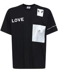 Burberry コットンジャージーtシャツ - ブラック