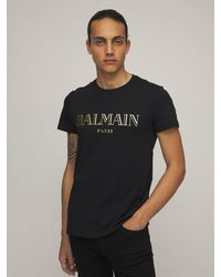 Balmain コットンジャージーtシャツ - ブラック