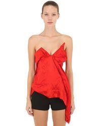 Vivienne Westwood Asymmetric Viscose Satin Corset Top - Red