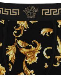 Versace Boxerslip Aus Viskose Mit Baroquedruck - Schwarz
