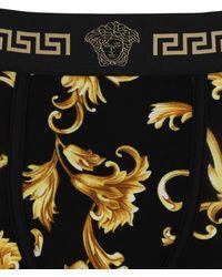 Versace バロックプリントボクサーブリーフ - ブラック