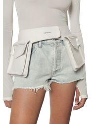 Off-White c/o Virgil Abloh Pocket Leather Belt Bag - Белый