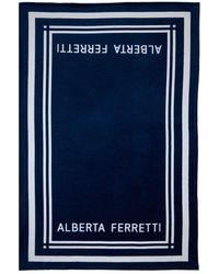 Alberta Ferretti Пляжное Полотенце C Логотипом - Синий