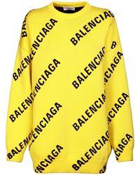 Balenciaga コットンブレンドセーター - イエロー
