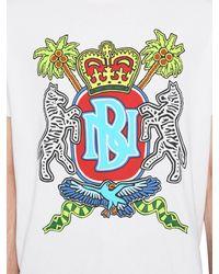 Neil Barrett Bedrucktes T-shirt Aus Baumwolljersey - Weiß