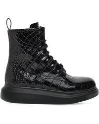 Alexander McQueen - Кожаные Ботинки 40мм - Lyst