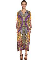 Etro Kleid Aus Seide Und Viskose Mit Druck - Mehrfarbig