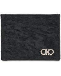 Ferragamo Кожаный Кошелёк С Металлическим Логотипом - Черный