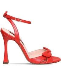 ALEXACHUNG 110mm Studio Heel Leather Sandals - Red