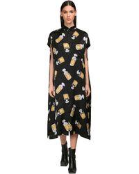 Balenciaga Атласное Платье-пижама - Черный