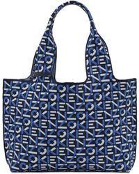 KENZO Borsa Shopping Grande Con Logo Jacquard - Blu
