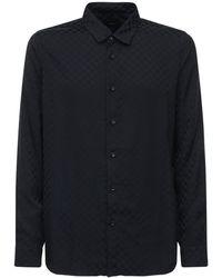 Amiri スクエアジャカードビスコースシャツ - ブラック