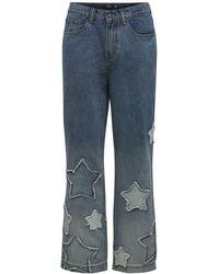 Jaded London Skater-jeans Mit Sternapplikation - Blau