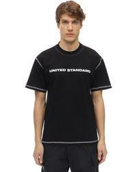 United Standard コットンジャージーtシャツ - ブラック