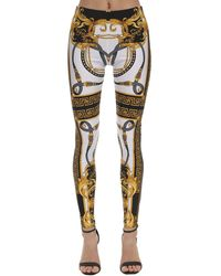 Versace Printed High-rise leggings - Multicolour