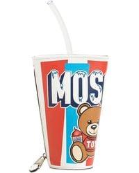 "Moschino Pochette ""cup"" In Pelle - Bianco"