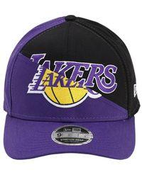 KTZ Nba Team Split Stretch Snap Baseball Hat - Lila