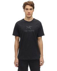 "Arc'teryx T-shirt En Coton ""arc'world"" - Noir"