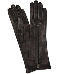 Mario Portolano - Zipped Mid Leather Gloves - Lyst
