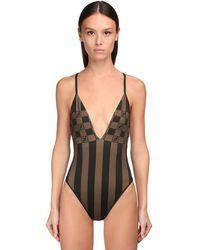Fendi One-piece Swimsuit - Brown