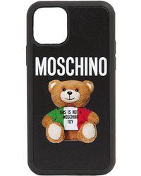 Moschino Teddy Logo Iphone 11 Pro Case - Black