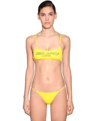 DSquared² Top Bikini In Lycra - Giallo
