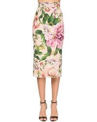 Dolce & Gabbana Юбка-карандаш С Цветочным Принтом - Розовый