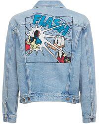 Gucci Куртка Disney X Из Денима - Синий