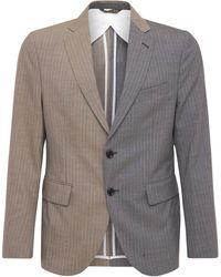 LC23 Bicolor Pinstripe Wool Blazer - Grey