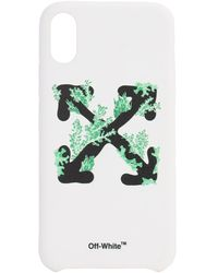 Off-White c/o Virgil Abloh Iphone Xs-cover Mit Druck - Weiß