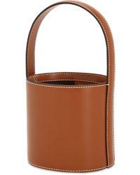 STAUD Mini Bissett Leather Bucket Bag - Brown