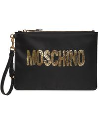Moschino Gold ポーチ - ブラック