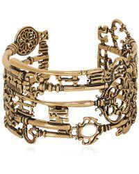 Alcozer & J Barbablù Key Cuff Bracelet - Metallic