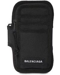 Balenciaga Explorer ナイロンアームスマートフォンホルダー - ブラック