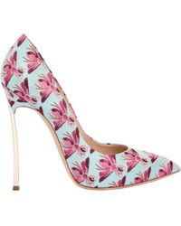 Casadei - 120mm Blade Bee Jacquard Court Shoes - Lyst