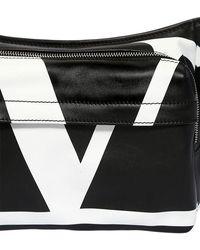 Valentino Gürtletasche Aus Leder Mit Logodruck - Schwarz