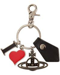 Vivienne Westwood I Love Orb Key Holder - Black