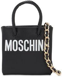 Moschino Micro Shopping Leather Bag - Black