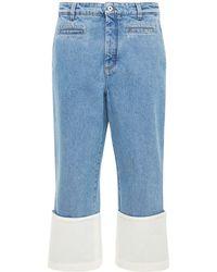 """Loewe Jeans Aus Baumwolldenim """"fisherman"""" - Blau"""