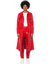 Kirin Belted Trench Coat - Red
