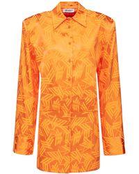 The Attico ビスコースジャカードシャツドレス - オレンジ